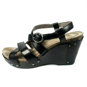 Dansko Frida Strappy Leather Wedge Sandal